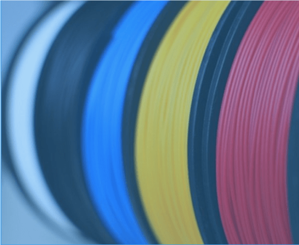 coils of plastic for 3d printing