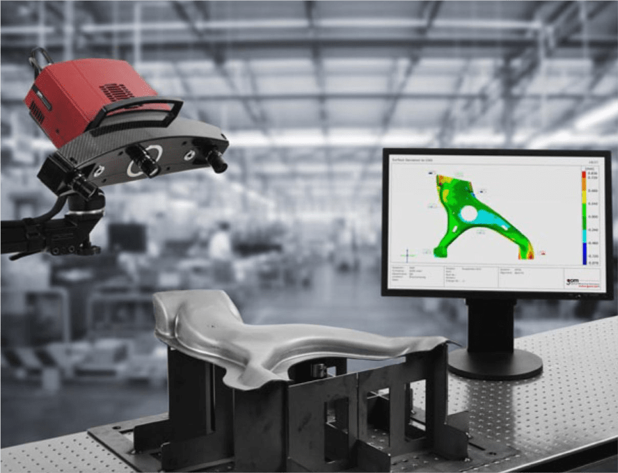 picture of a 3D scanner at a factory