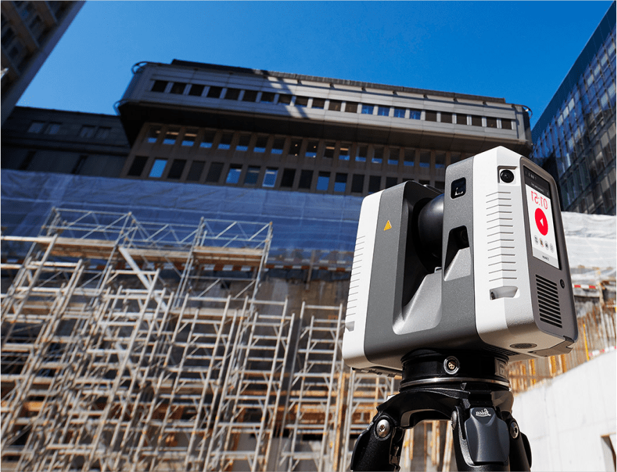 a picture of a 3D scanner at a construction site