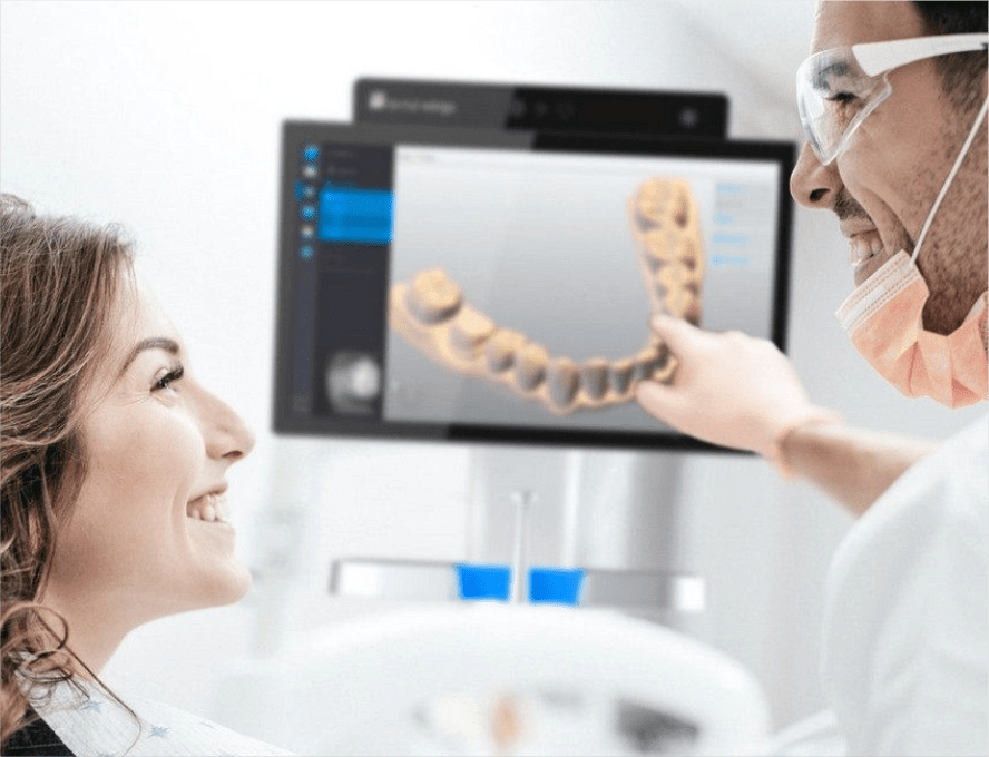 picture of a 3D scanner in a hospital